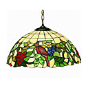 Grapes and Birds 2-light Tiffany Pendant Light 220V