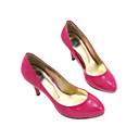 vernice tacco alto alto chiuso le dita dei piedi scarpe moda (0.985-k839)