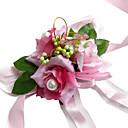 Beautiful Pink Silk Rose With Chiffon Decoration Wedding/ Bridal Wrist Flower