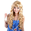 Capless Extra Long Top Grade Quality Synthetic Blonde Curly Hair Wig