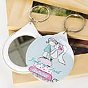Porte-clés personnalisé miroir - baisers (jeu de 12)