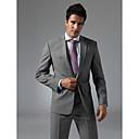 benutzerdefinierte Einreiher Ein-Knopf-Revers-Center-vented Bräutigam Anzug machen