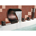 Bathtub Faucet - Antique - Waterfall / Sidespray / Handshower Included - Brass (Oil-rubbed Bronze)