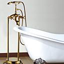 antikk gulvstående badekar og hånddusj - TI-PVD overflate