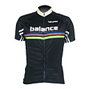 Kooplus Men's Cycling Jersey Short Sleeve 100% Polyester Black Breathable