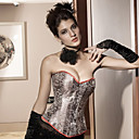 Acrylic/Spandex With Jacquard Strapless Front Busk Closure Corset Shapewear Sexy Lingerie Shaper