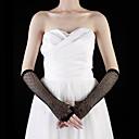 Handschuh Ellenbogen Länge Halbe Finger Tüll Brauthandschuhe/Party / Abendhandschuhe