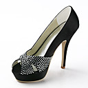 Women's Wedding Shoes Heels/Peep Toe/Platform Heels Wedding Black/Blue/Pink/Red/Ivory/White/Silver