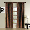 (Two Panels) Classic Red Paisley Energy Saving Curtain