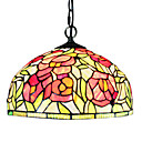 Max 60W Tiffany / Bowl Mini Style Electroplated Pendant Lights Living Room / Bedroom / Dining Room / Entry