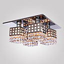 SL® Chandelier Modern Crystal Stainless Living 4 Lights