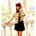 Long Sleeve Turndown Collar Casual Faux Fur Jacket(More Colors)