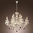 12-light The style of palace Glass Chandelier With Candle Bulb
