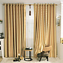 Neoclassical Two Panels Solid Beige  Red  Gold Bedroom Polyester Curtains Drapes