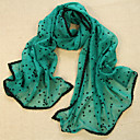 JAFENMY Women's Heart Flocking Scarf