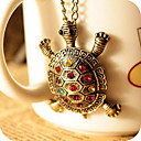 Women's Diamond Lovely Tortoise Vintage Necklace