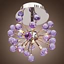 maishang® 6-luz de teto de cristal floral forma k9-luz roxa (0942-98004-c-6p