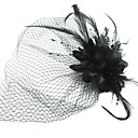 Women's Satin/Feather/Tulle Headpiece - Special Occasion Fascinators/Birdcage Veils