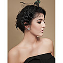 Women's Feather/Tulle Headpiece - Wedding/Special Occasion Fascinators/Birdcage Veils