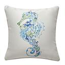 hippocampe couverture nautique oreiller imprimé décoratif