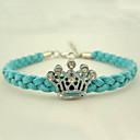 Kvinners Crown Sequin Linen Diamond Flower Bracelet