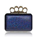 Sparkling Glitter Shell With Rhinestone Evening Bag Handbag Purse Clutch