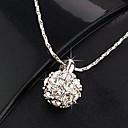 Frauen Strass-Dekor Kristall Halskette