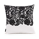 Lace Floral Polyester Decorative Pillow Cover
