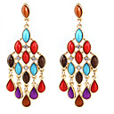 Damen Multi-Color Acryl Retro Tassel Earrings