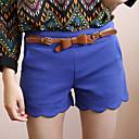 LELE Welle Hem Belted Shorts