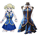 Fairy Tail Lucy Heartfilia Blue Dress Cosplay
