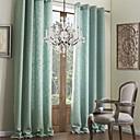modernos dos paneles sólidos salón azul cortinas de lino falsa oscuras
