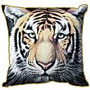 Velvet Pillow Cover , Animal Print Retro