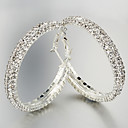 Hoop Earrings Women's Alloy Earring Crystal