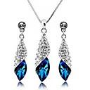 women's Elegant Gemstone Jewelry Set(Earring and Necklace)