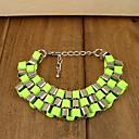 Women's Fashion Layered Double Color Squares Bracelet