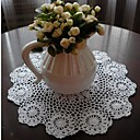 Set Of 4 Handmade Crocheted White Vintage Look Placemats