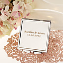 Personalized Square Stainless Steel Compact Mirror Favor