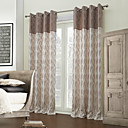 (Two Panels) Mediterranean Stripe Jacquard Energy Saving Curtain