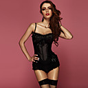 Satin Polyester Ruffles Pleated Top Princess Burlesque Corset Sexy Lingerie Shaper
