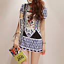 Women's Ethnic Print Mini Dress (Slim Fit)