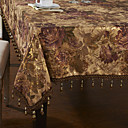 Traditionnels en polyester multi-couleurs Chiffons Jacquard Table Floral