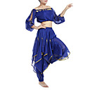 Dancewear chiffon com beading desempenho E Moedas Belly Dance Outfits For Ladies (mais cores)