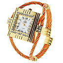 Women's Alloy Quartz Movement Glass Square Watch(More Colors)
