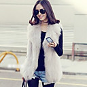 Fur Vest With Shawl In Faux Fur Casual/Party Vest (More Colors)