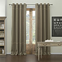 (Two Panels) Classic Solid Lined Blackout Curtain
