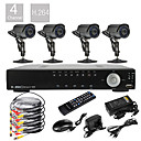 Ultra DIY 4CH D1 Real Time H.264 CCTV DVR Kit(4pcs 420TVL Waterproof Night Vision CMOS Cameras)