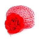 Tulle nuziale e del panno del fiore di stile Fascinators con piuma nozze / copricapo da Occasioni speciali (altri colori)