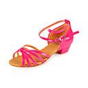 Chaussures de danse (Argent/Or/Fuchsia) - Non personnalisable - Gros talon - Similicuir - Danse latine/Salle de bal