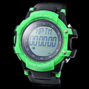 Unisex Heart Rate Monitor Bright Color Case Rubber Band Digital Wrist Watch with Pedometer (Assorted Colors)